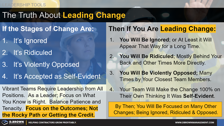 Leadership Tools: The Truth about Leading Change.