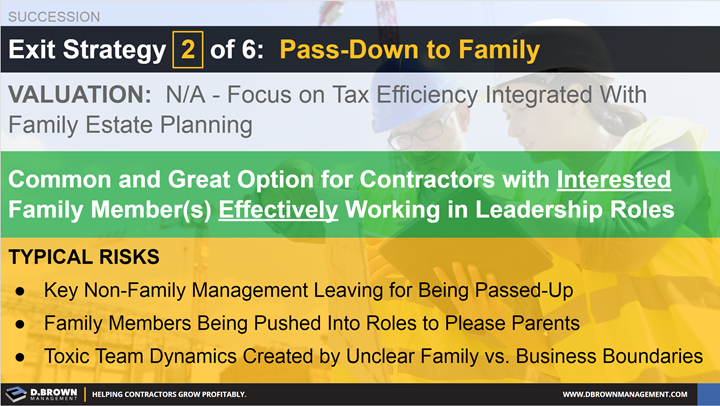 Succession: Exit Strategy 2 of 6 - Pass-Down to Family.