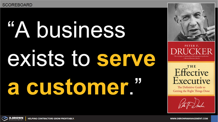 Quote: A business exists to serve a customer. Peter F. Drucker
