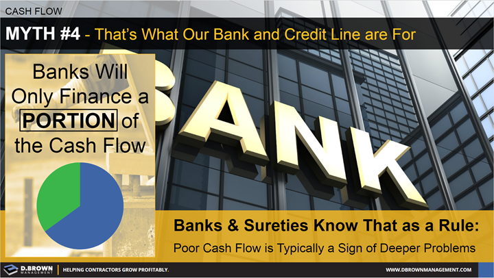 Cash Flow: Myth 4 - That's What Our Bank and Credit Line are for