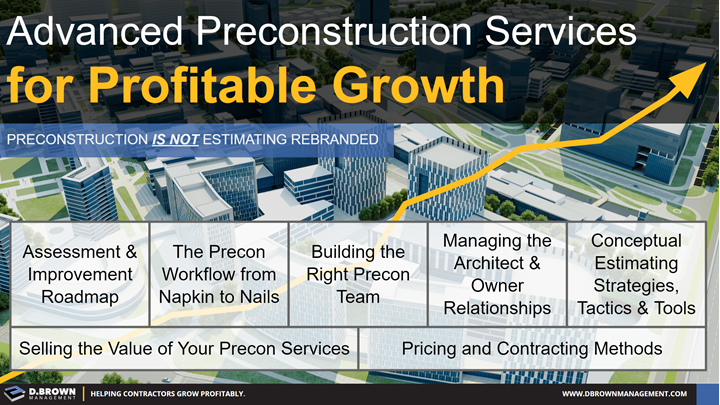 Advanced Preconstruction Services for Profitable Growth.