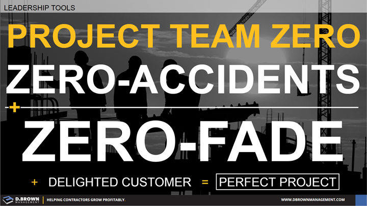 Leadership Tools: Project Team Zero. Zero-Accidents and Zero-Fade and Delighted Customer is the Perfect Project.