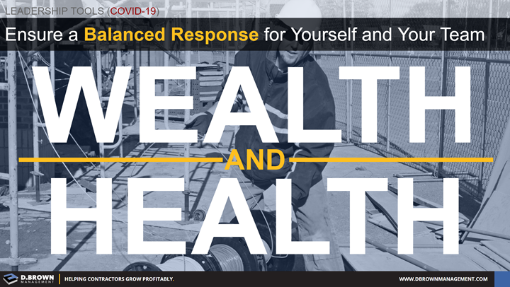 COVID-19: Ensure a balanced response for yourself and your team. Wealth and health.