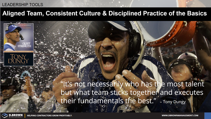 Quote: It's not necessarily who has the most talent but what team sticks together and executes their fundamentals the best. Tony Dungy