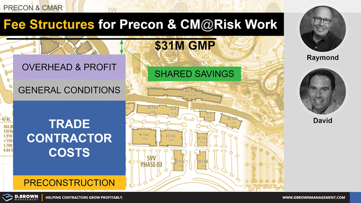 Precon and CMAR: Fee Structures for Precon and CM at Risk Work.