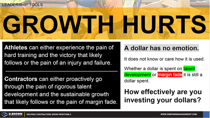 Leadership Tools: Growth Hurts. How effectively are you investing your dollars?