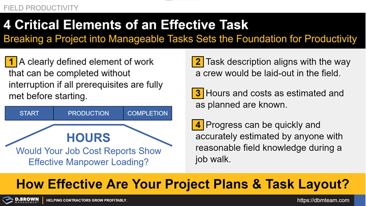 Field Productivity: 4 Critical Elements of an Effective Task.